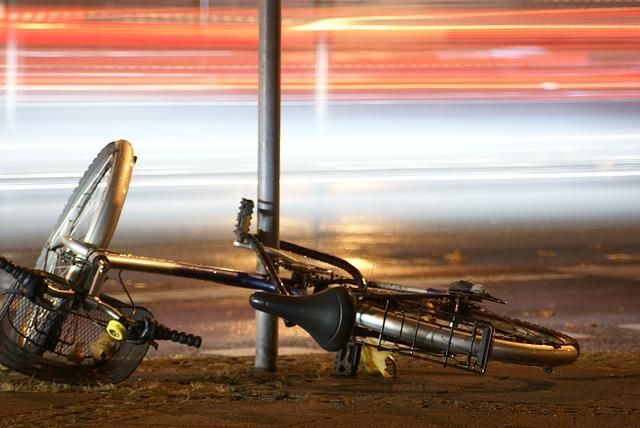 авария на велосипеде